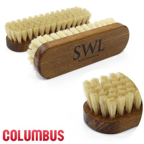COLUMBUS×SWL オリジナルロゴ入り コロンブス製 豚毛靴ブラシ
