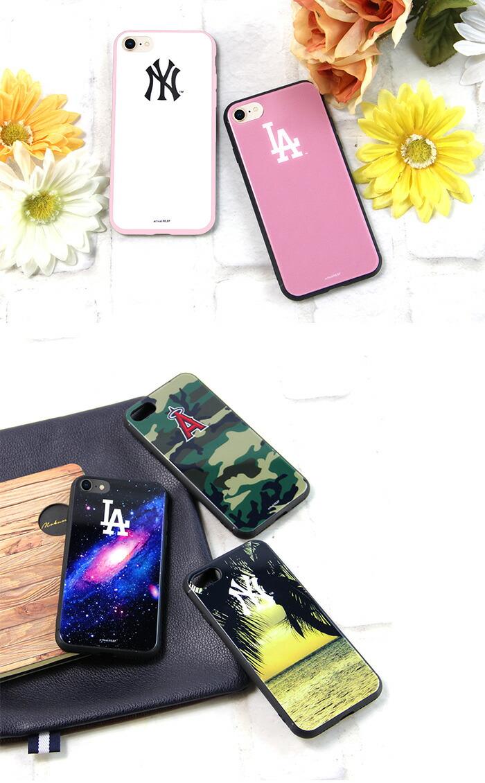 MLB エンゼルス スマホケース 背面ガラス (iphone12 バンパーケース 12mini 12pro iphone11 11pro iphone se 2020 se2 xr アイフォン12 p30lite aquosr2 ギャラクシーs10 iphone 12) かわいい 韓国 NY LA ヤンキース デザイン コラボ