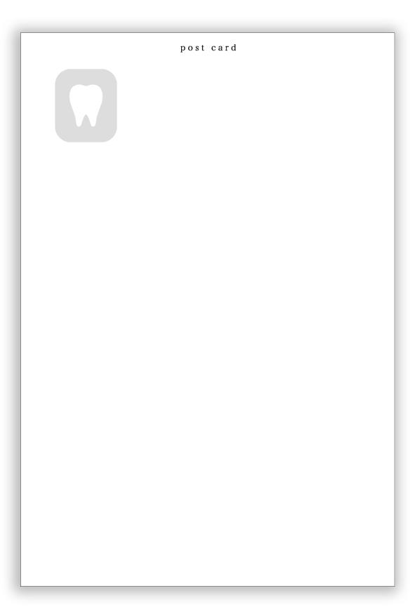 【ポストカード】リコールカード01 50枚(RC11801)