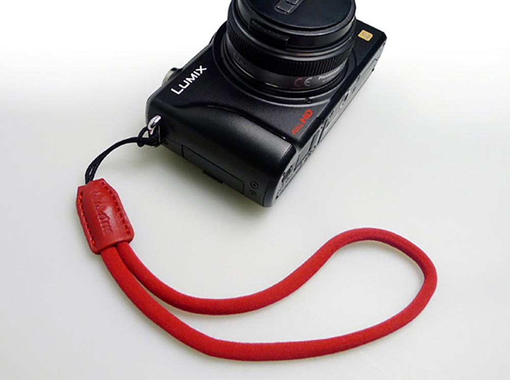 GARIZ DD-WSP2 ミラーレスカメラ用リストストラップ レッド