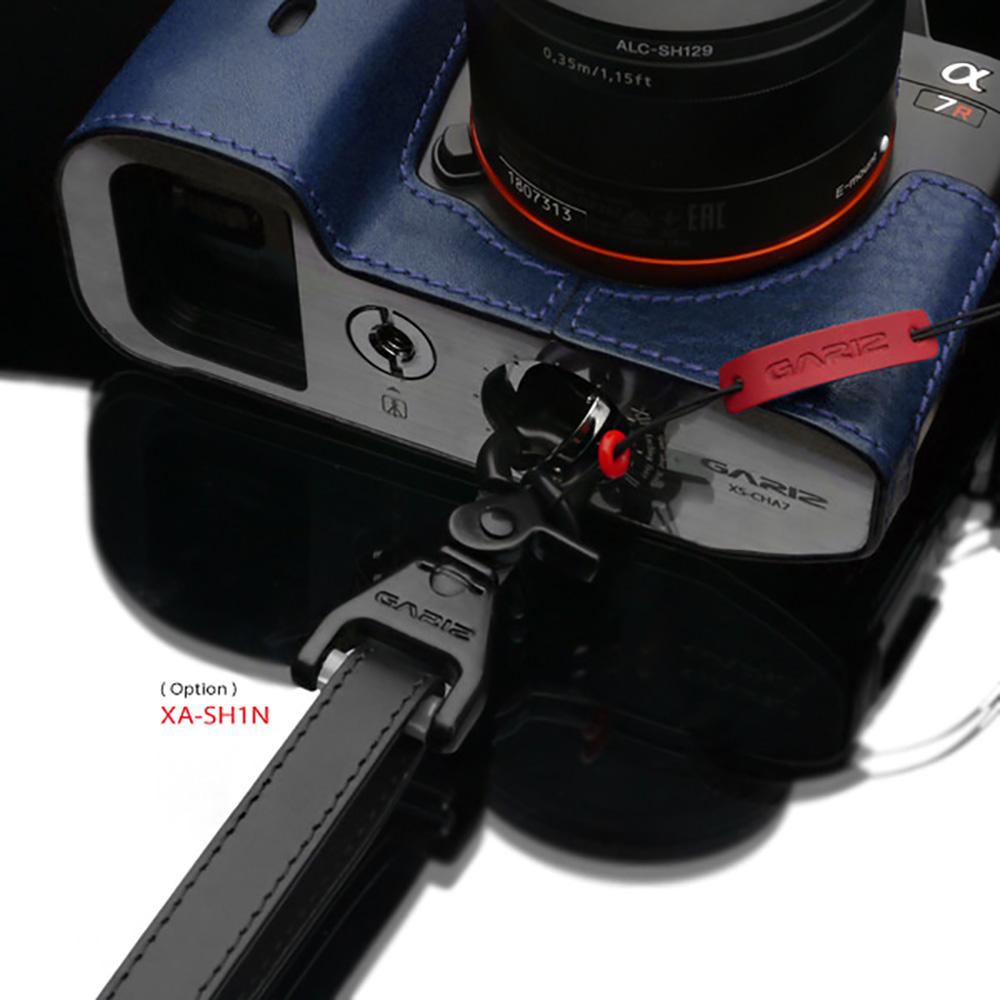 GARIZ 本革カメラネックストラップ XS-CHLSNV3 ネイビー