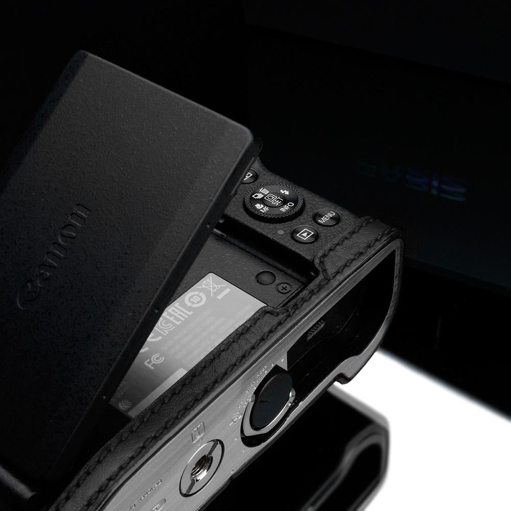 GARIZ Canon PowerShot G1 X Mark III 用 本革カメラケース XS-G1XM3BK ブラック