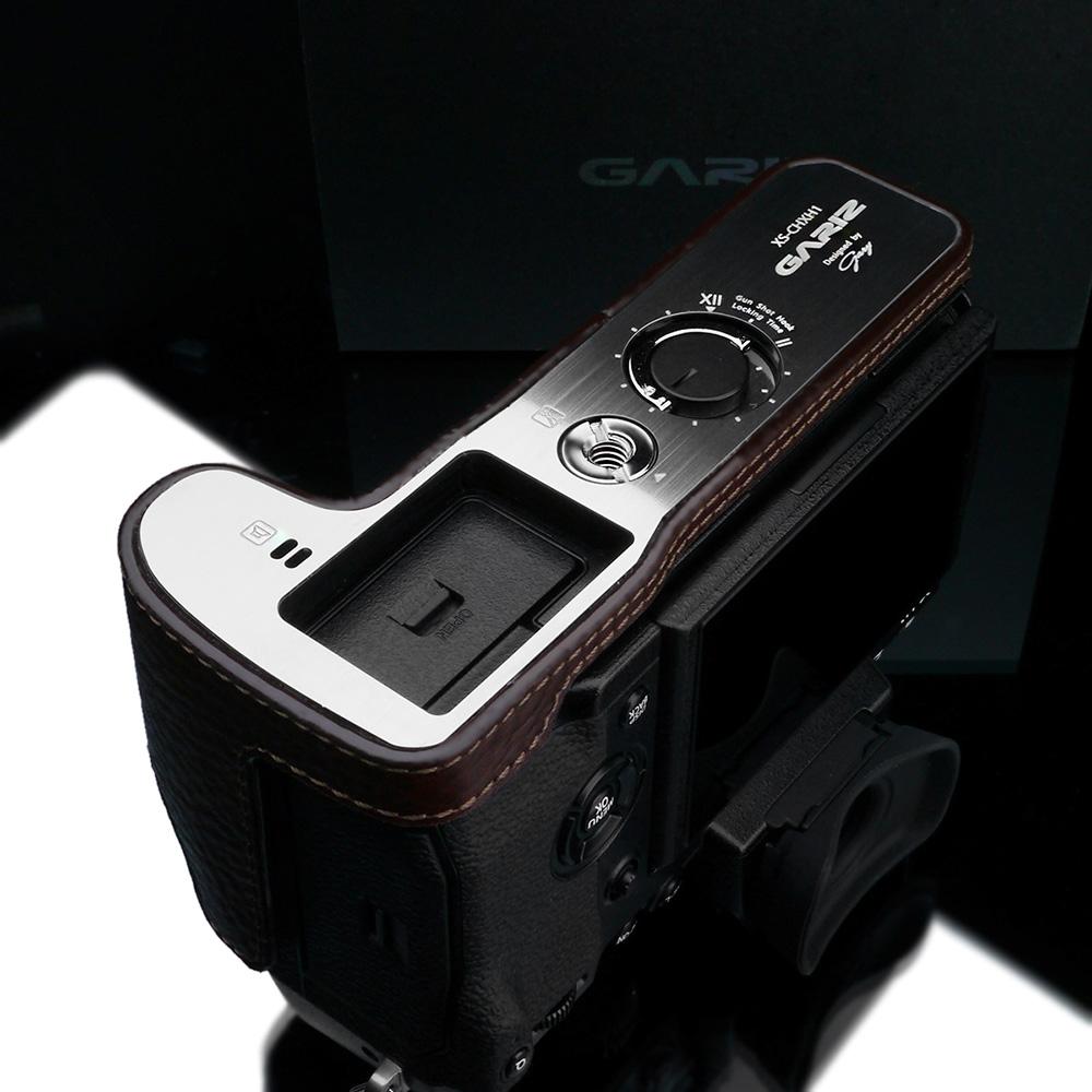 GARIZ FUJIFILM X-H1用 本革カメラケース XS-CHXH1BR ブラウン