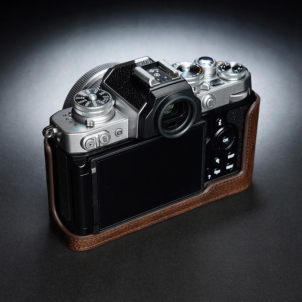 TP Original Nikon Z fc 用 ボディーハーフケース ダークブラウン