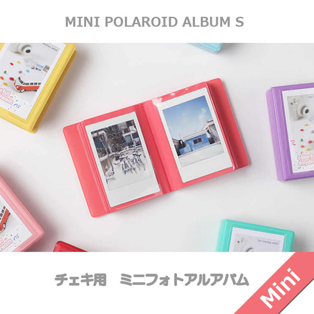 2nul チェキアルバム mini polaroid album S for Instax Mini (29枚収納)