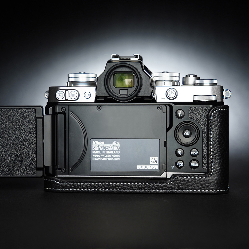 TP Original Nikon Z fc 用 ボディーハーフケース ブラック