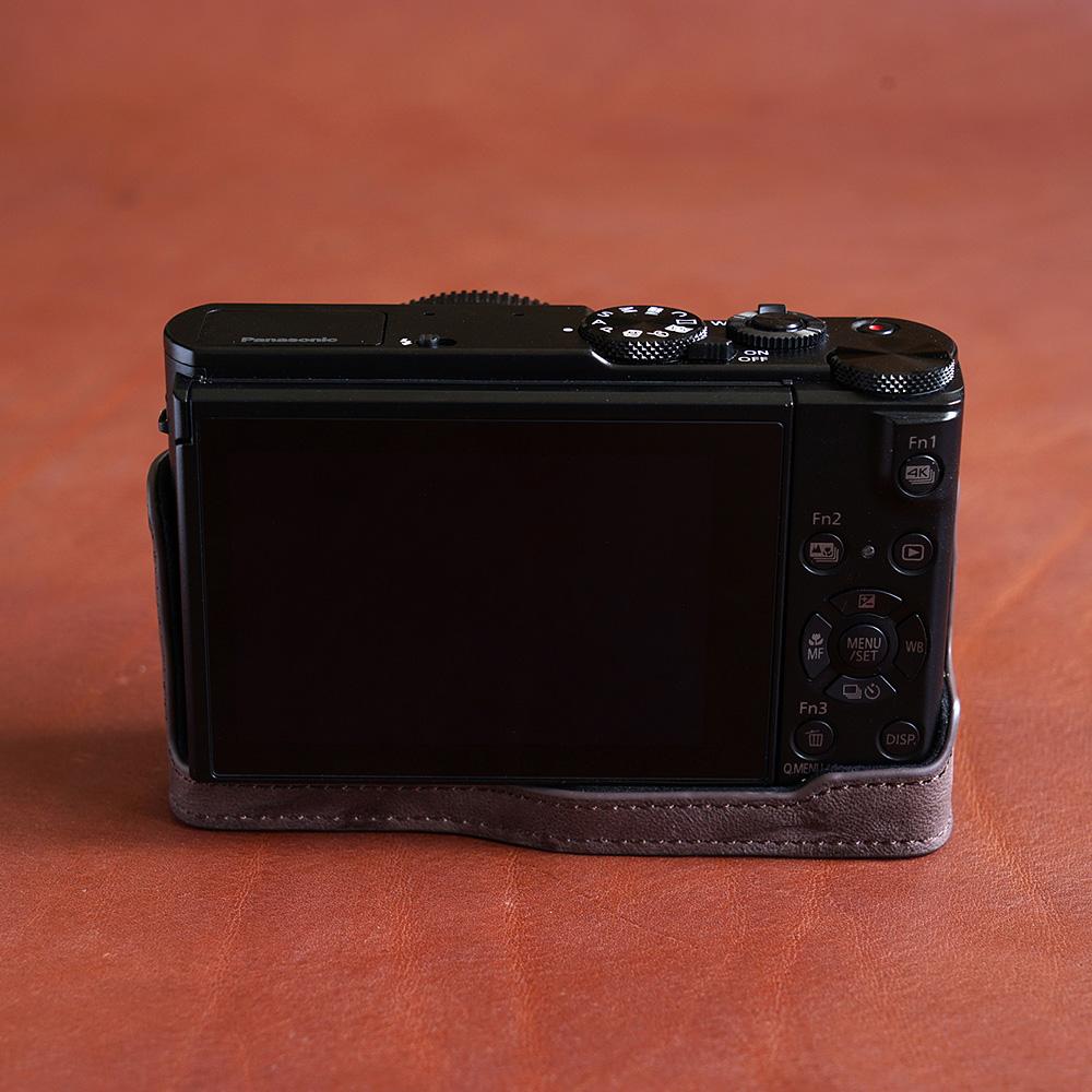 TP Original Panasonic LX9 用 ボディーハーフケース ダークブラウン