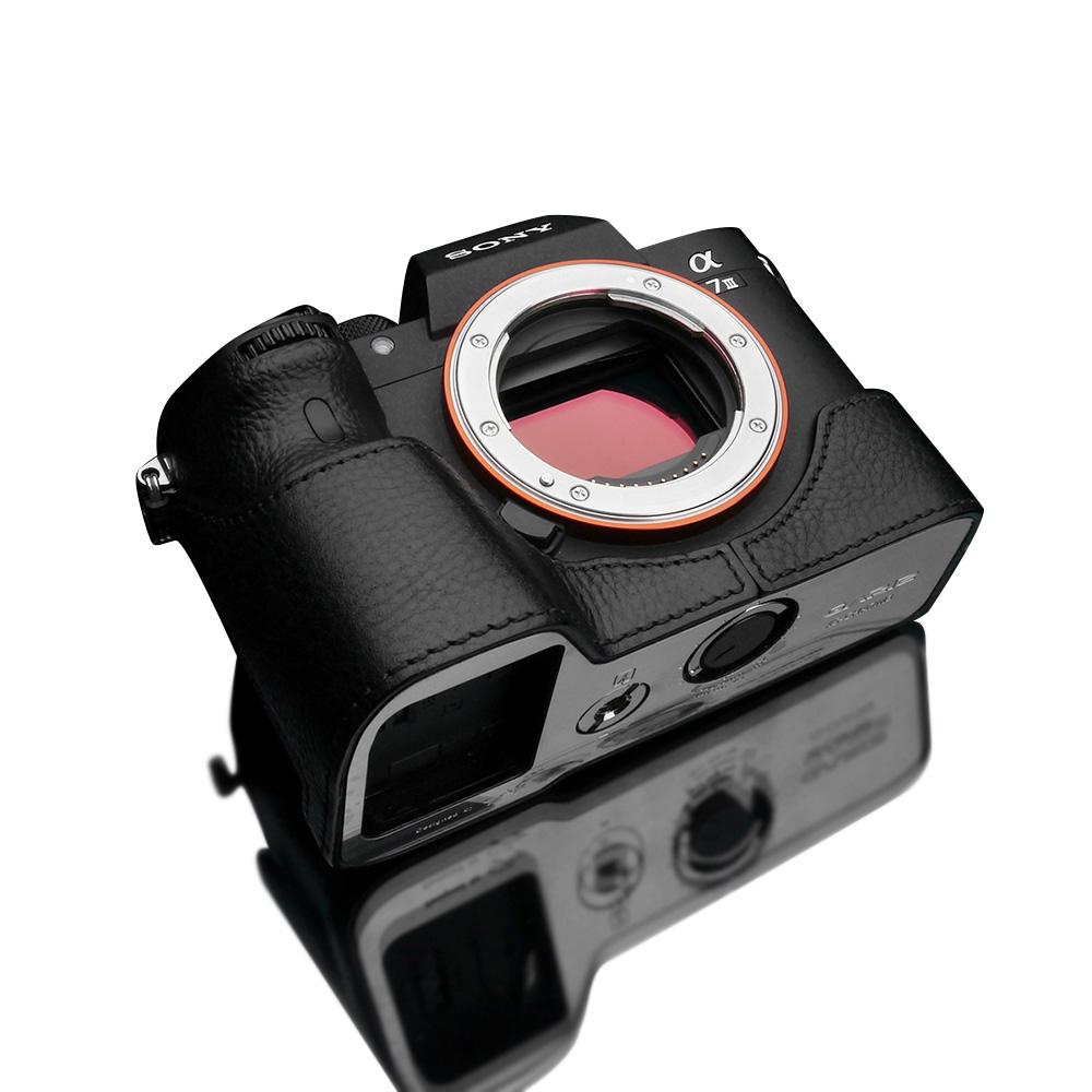 GARIZ SONY α9/α7R III/α7 III 兼用 本革カメラケース XS-CHA7M3BKO ブラック