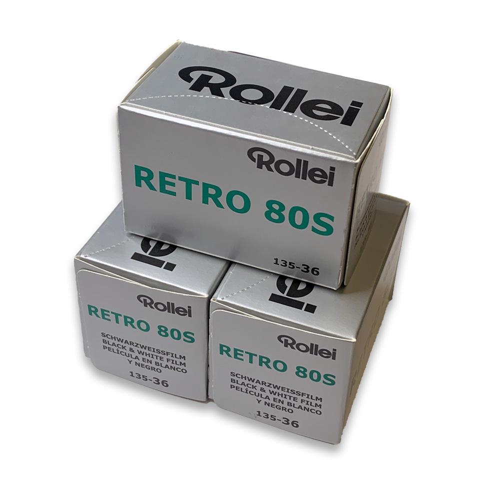 Rollei ローライ 白黒フィルム Rollei Retro 80S 135-36枚撮り 3本セット