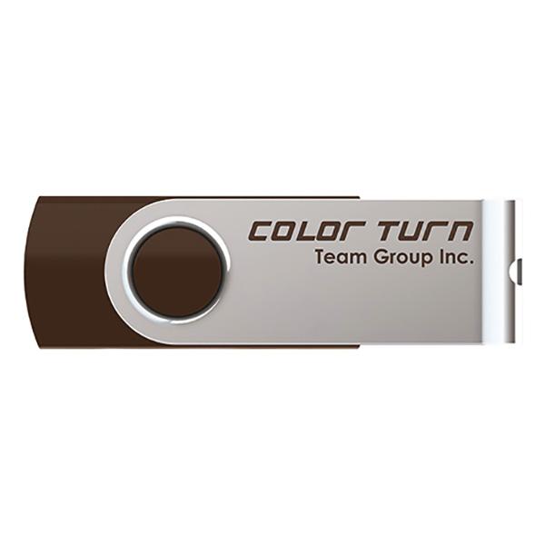 Team Japan USBメモリ Color Turn E902(ブラウン) USB2.0 8GB TG008GE902CX