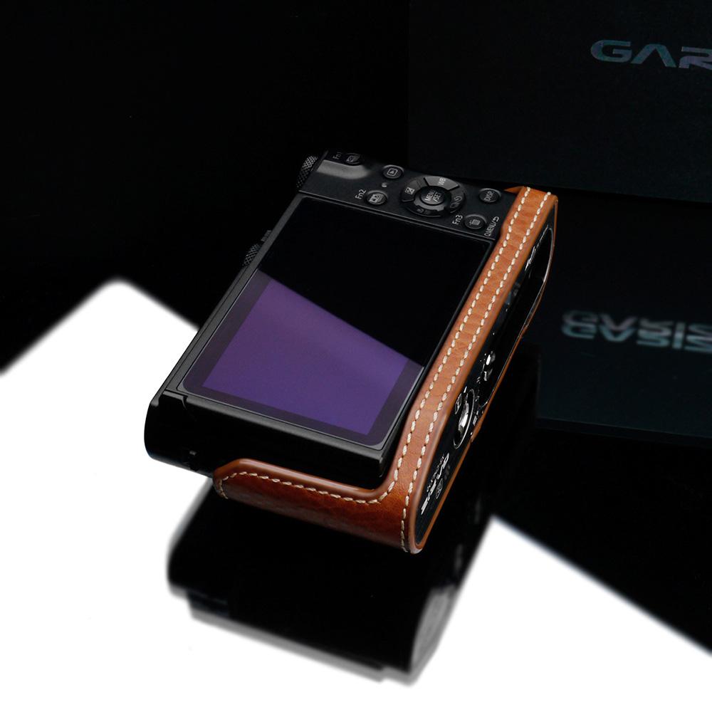 GARIZ Panasonic LUMIX DMC-LX9用 本革カメラケース XS-CHLX10CM キャメル