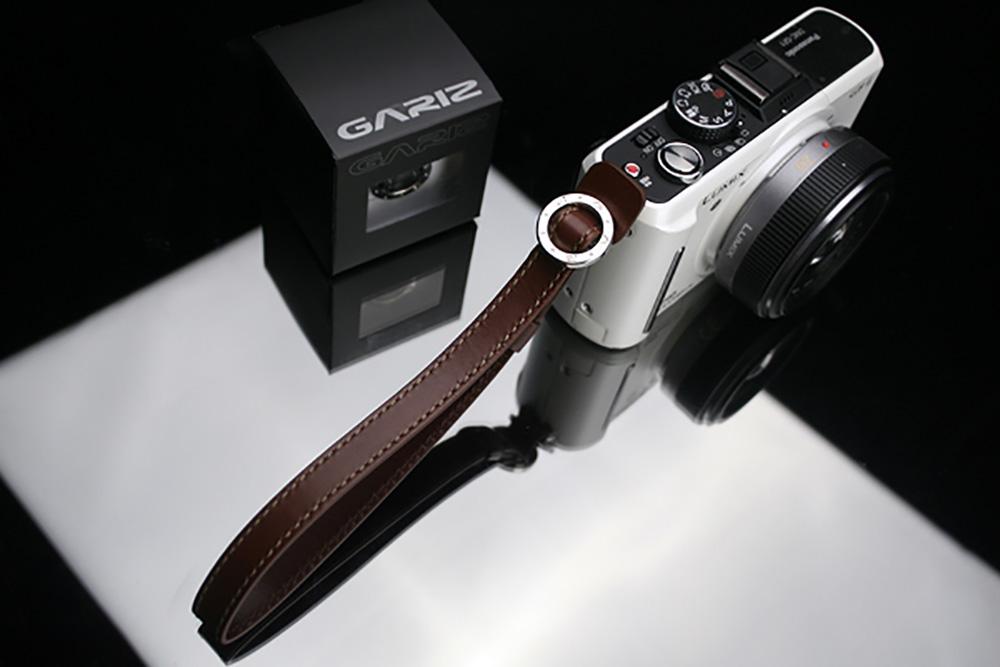 GARIZ コンパクトデジタルカメラ用 本革リスト&フィンガーストラップ XS-WFSN3 ブラウン