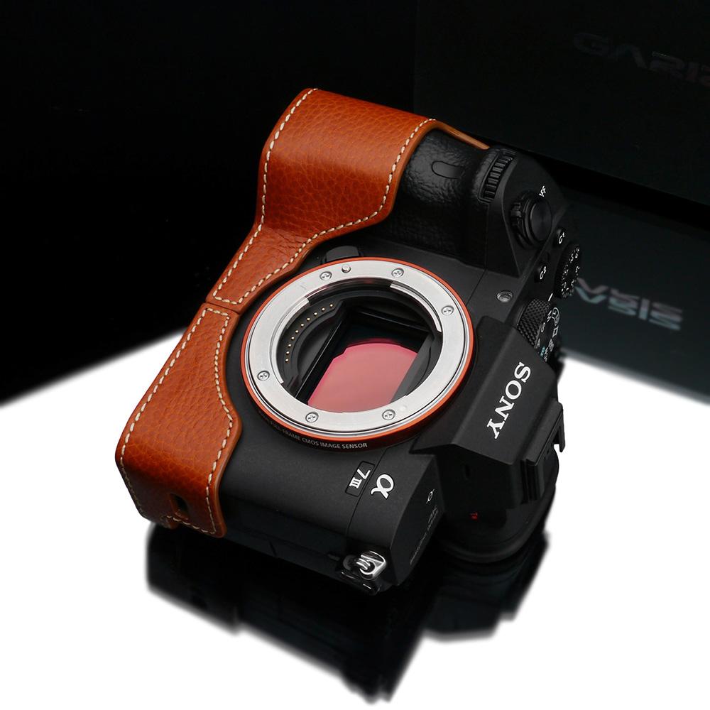 GARIZ SONY α9/α7R III/α7 III 兼用 本革カメラケース XS-CHA7M3CMO キャメル