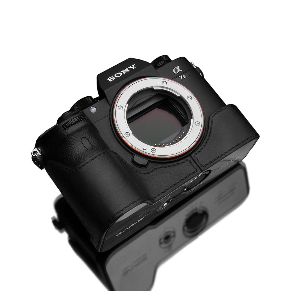 GARIZ SONY α9/α7R III/α7 III 兼用 本革カメラケース XS-CHA7M3BK ブラック