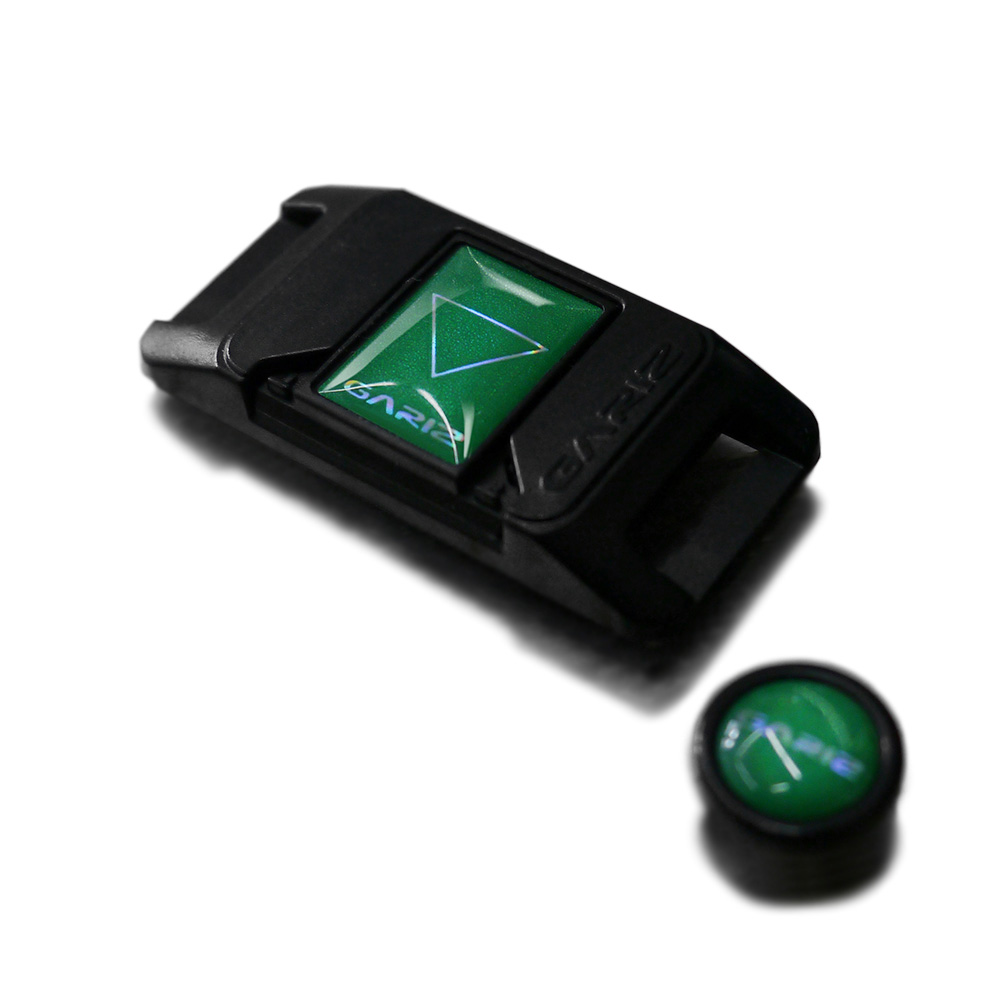 GARIZ ホットシューカバー ソフトボタン(シール式レリーズボタン)セット XA-SP2 グリーン