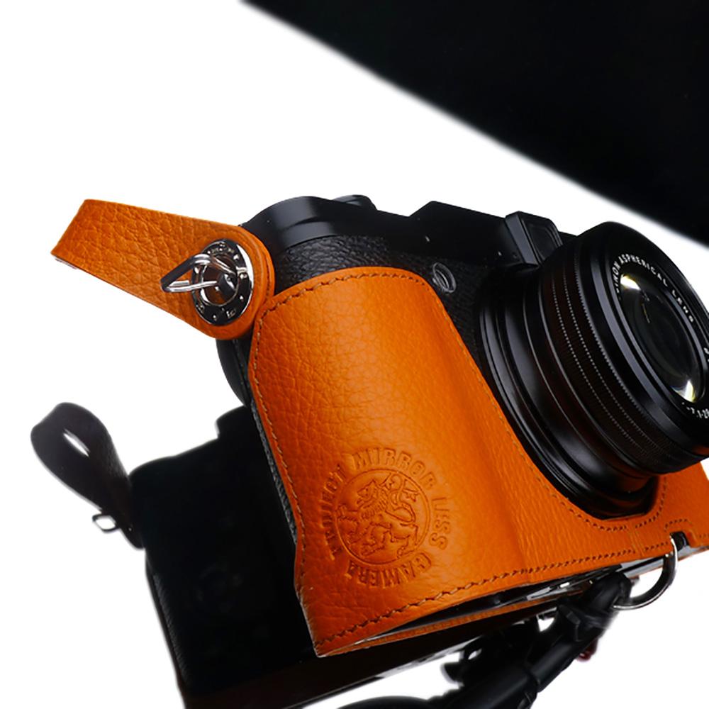 GARIZ 本革カメラフィンガーストラップ XA-FS1OR オレンジ