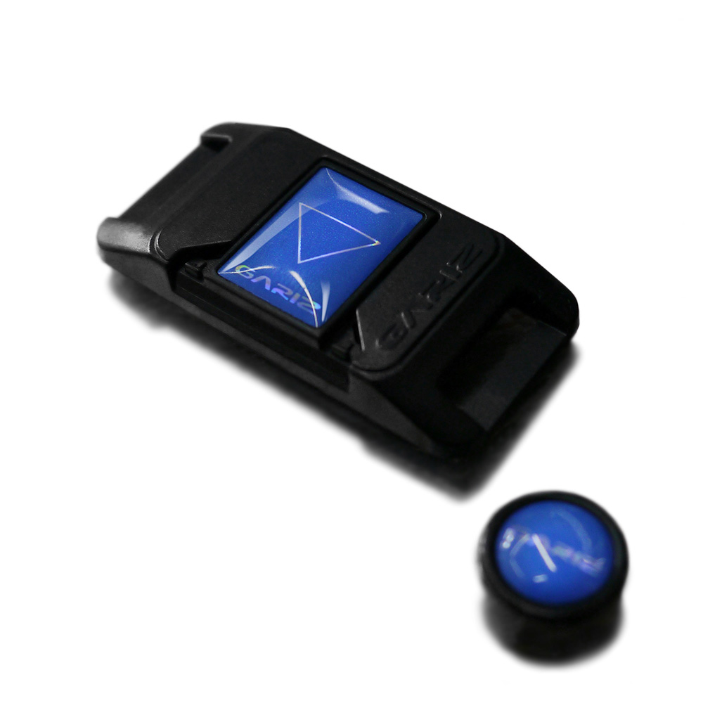 GARIZ ホットシューカバー ソフトボタン(シール式レリーズボタン)セット XA-SP2 ブルー
