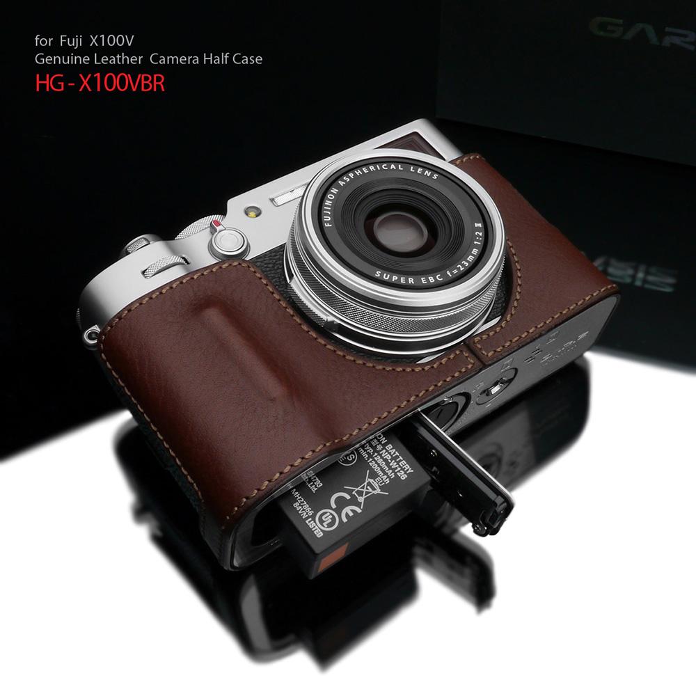 GARIZ FUJIFILM X100V用 本革カメラケース HG-X100VBR ブラウン