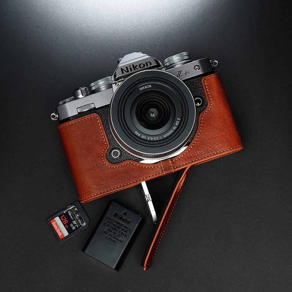 TP Original Nikon Z fc 用 ボディーハーフケース ブラウン