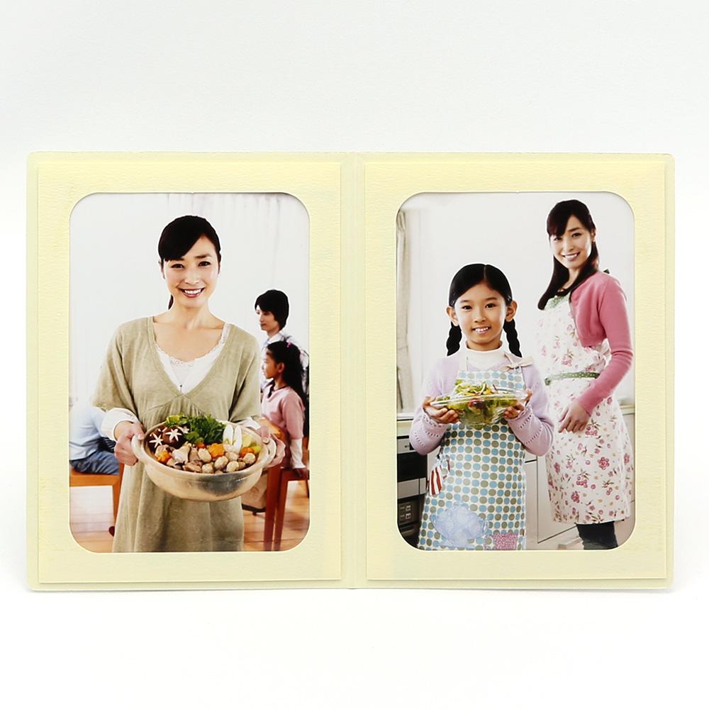 ポケット台紙 Photograph/カメラ L2面(タテ) クリーム メッセージカード付