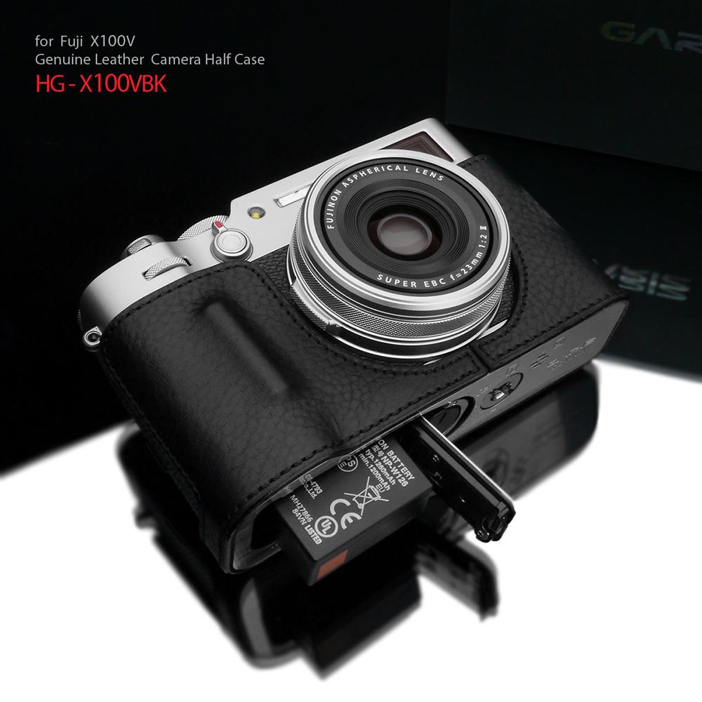 GARIZ FUJIFILM X100V用 本革カメラケース HG-X100VBK ブラック