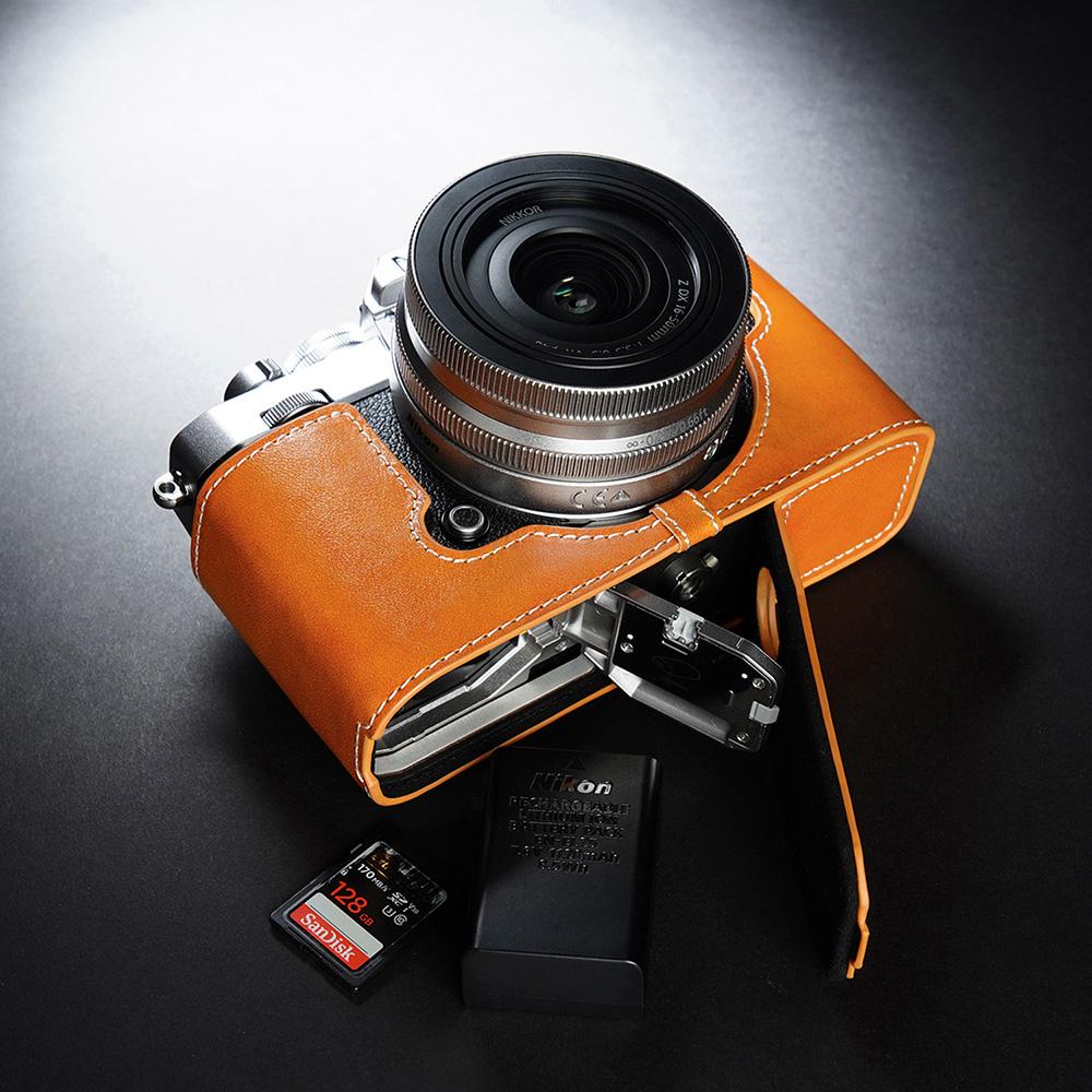 TP Original Nikon Z fc 用 ボディーハーフケース オレンジ