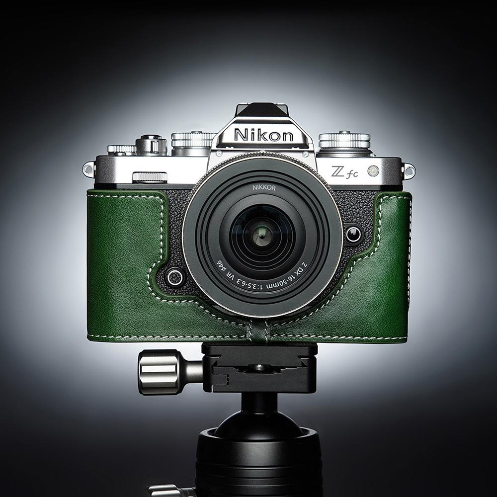TP Original Nikon Z fc 用 ボディーハーフケース グリーン