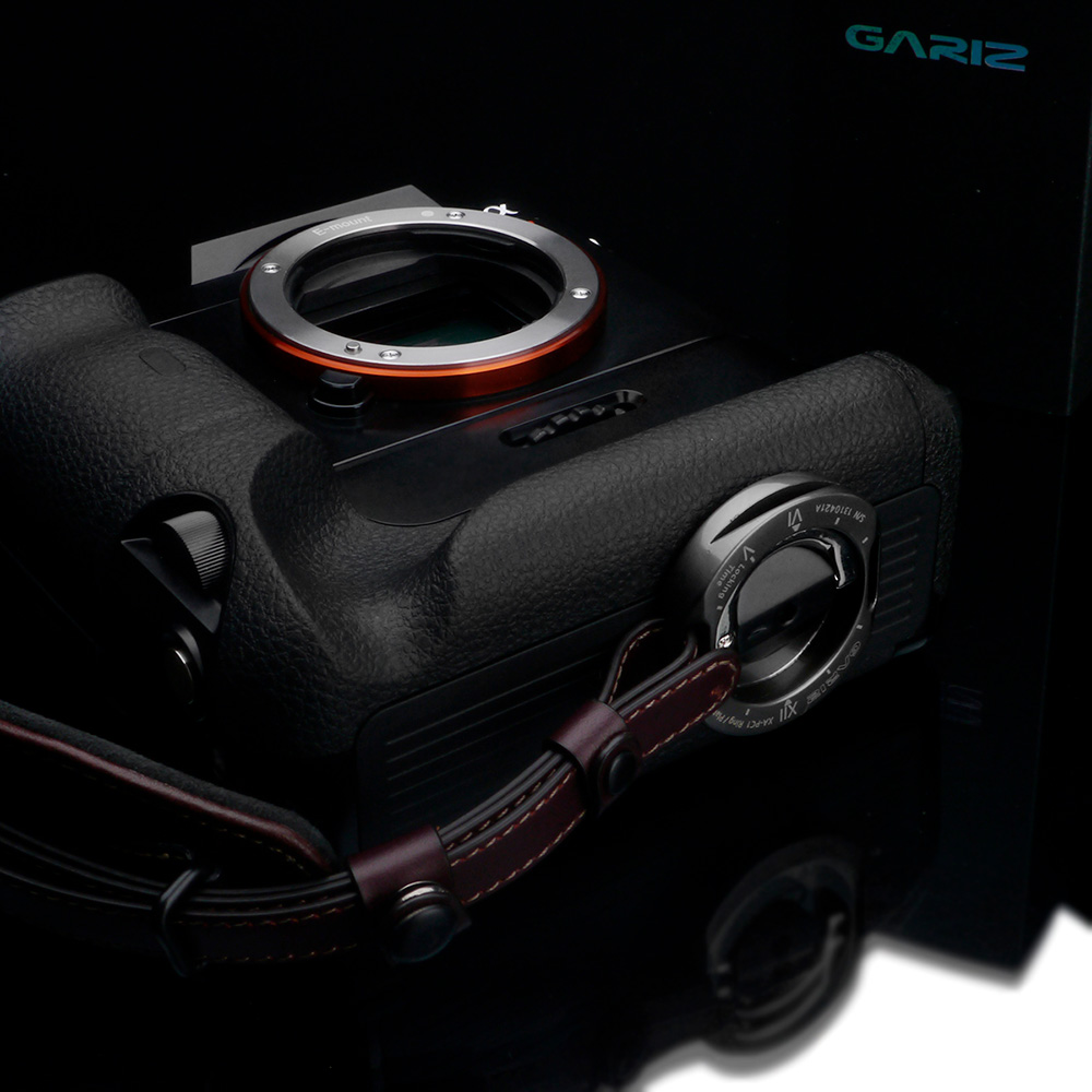 GARIZ Italian Leathere with Alcantara カメラグリップ (プレートXA-PC1セットモデル) AT-HG2/ABR1 Ergonomic Camera Handgrip+Plate ブラウン