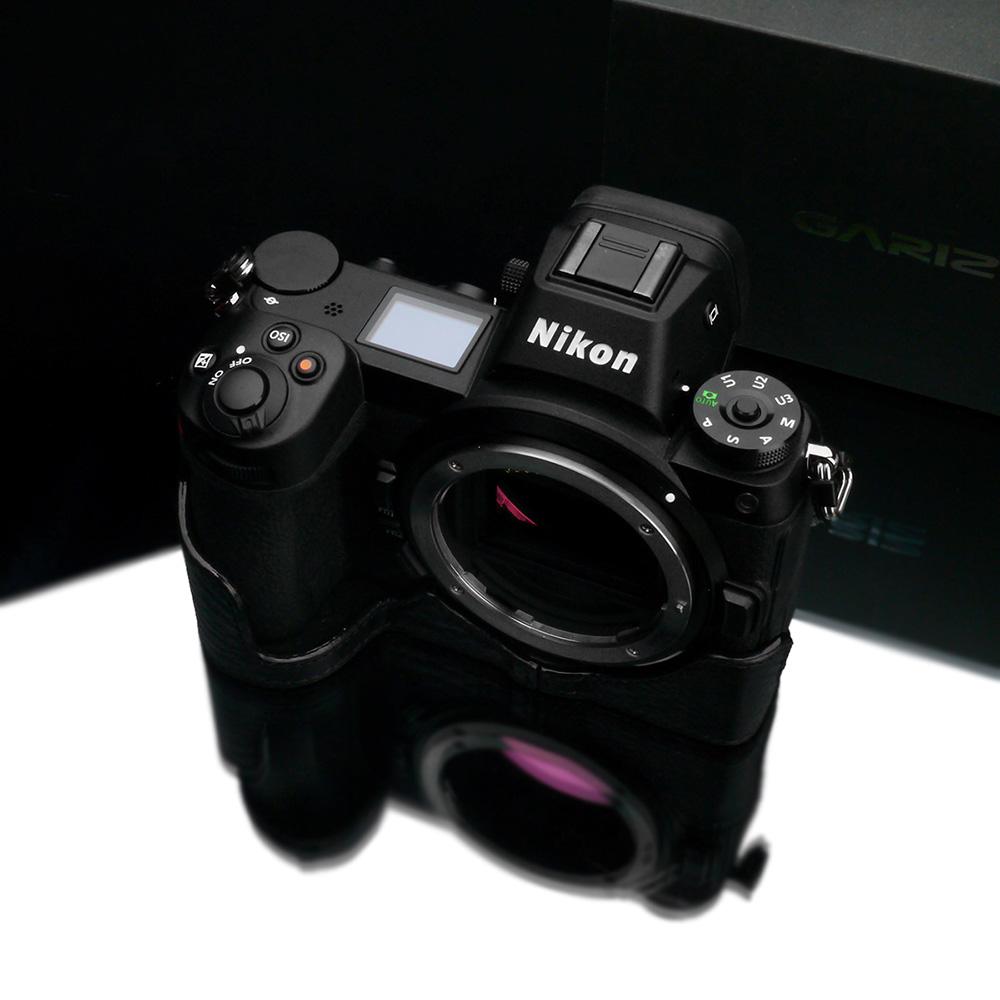 GARIZ Nikon Z6/Z7 用 本革カメラケース XS-CHZ6/7BK ブラック