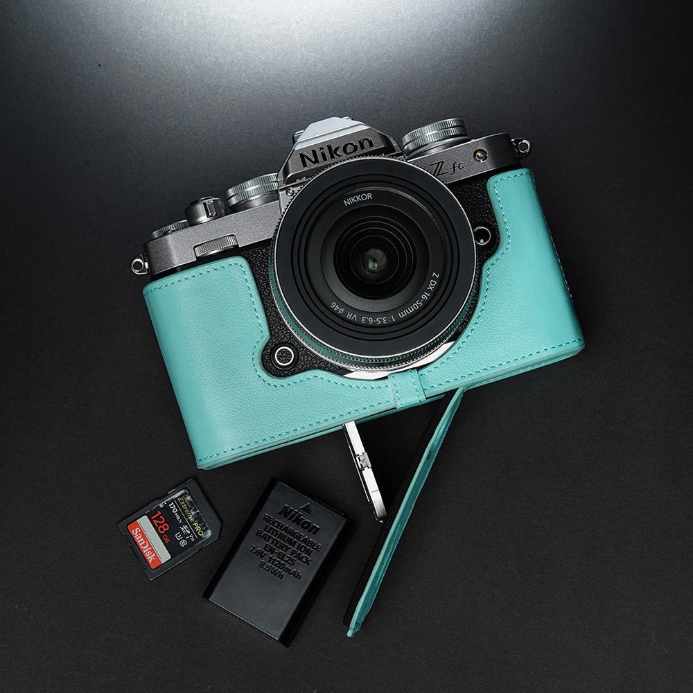 TP Original Nikon Z fc 用 ボディーハーフケース ピンクブルー
