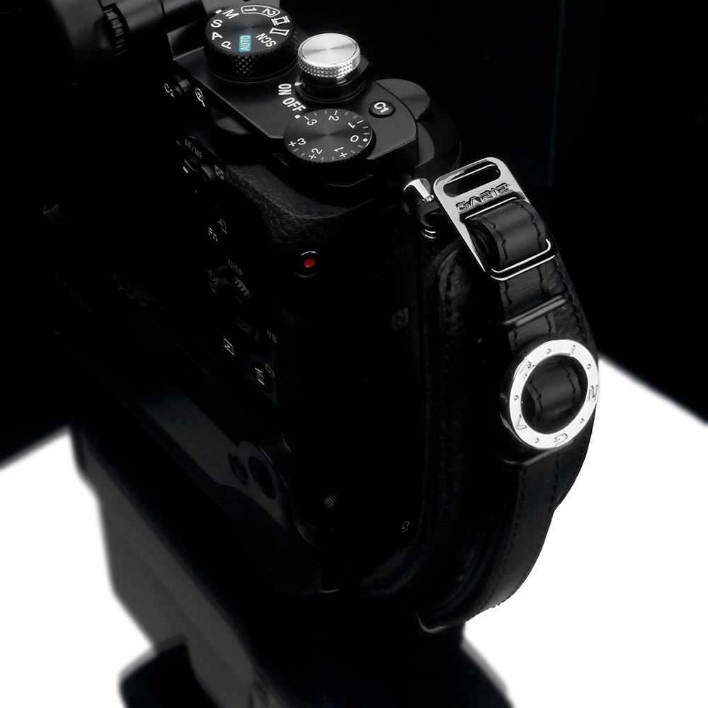 GARIZ Italian Leathere with Alcantara カメラグリップ AT-HG2/ABK Ergonomic Camera Handgrip ブラック