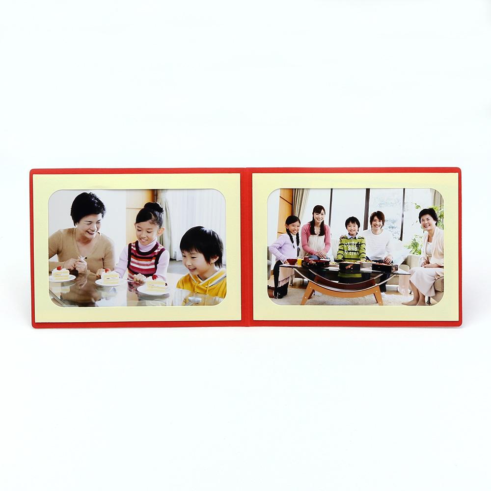ポケット台紙 Photograph/カメラ L2面(ヨコ) レッド メッセージカード付
