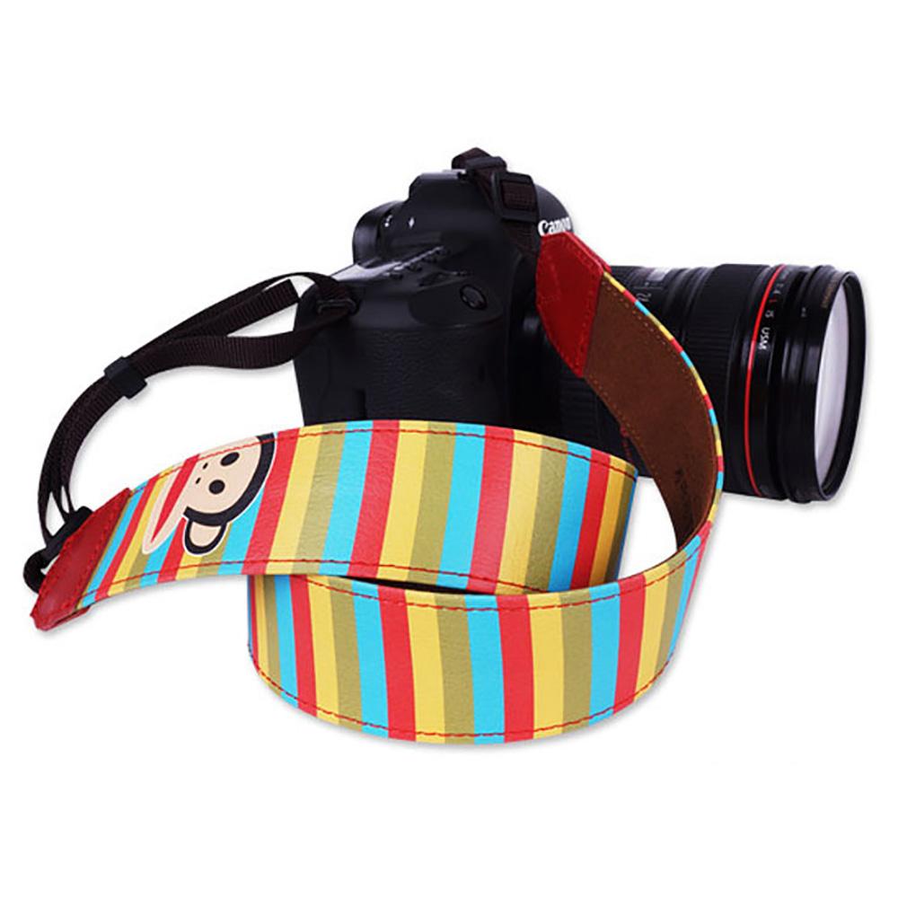 paul frank/ポールフランク SLR/DSLRカメラ用 ストライプ柄 ネックストラップ 13PF-SN04 RED レッド