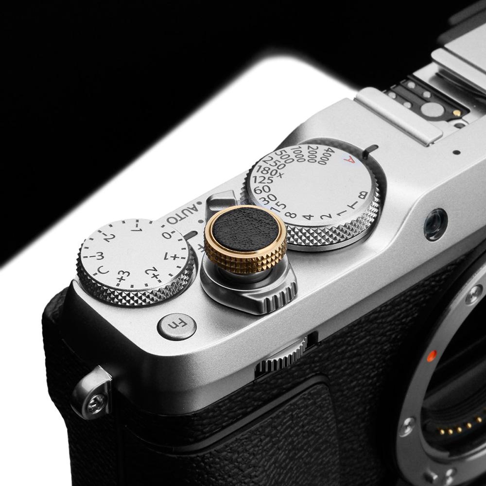 GARIZ イタリアンレザー ソフトレリーズシャッターボタン(ネジ式) 12mm ブラック XA-SBLBK