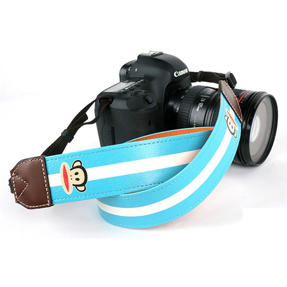paul frank/ポールフランク SLR/DSLRカメラ用 ストライプ柄 ネックストラップ 13PF-SN05 BLUE ブルー