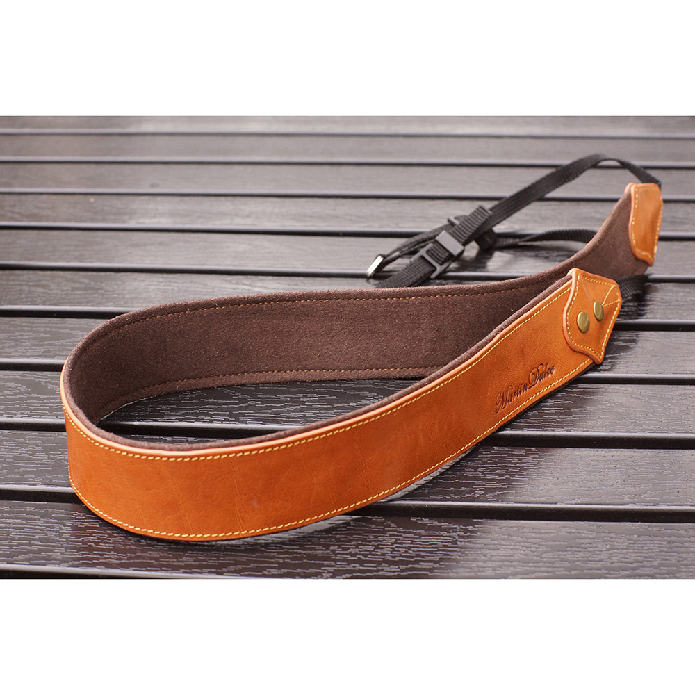 Martin Duke カメラネックストラップ SVEN Bon Bon Leather Neck Strap(W) Light Brown DN01LB