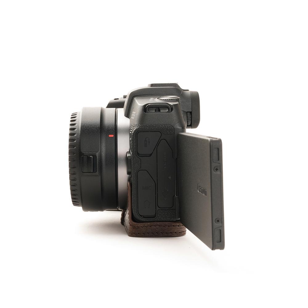 TP Original Canon EOS RP 用 ボディーハーフケース ダークブラウン