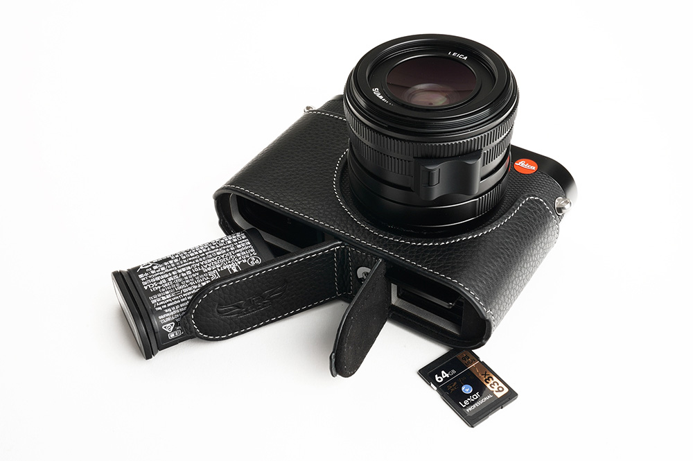 TP Original Leica Q2 用 ボディーハーフケース ブラック