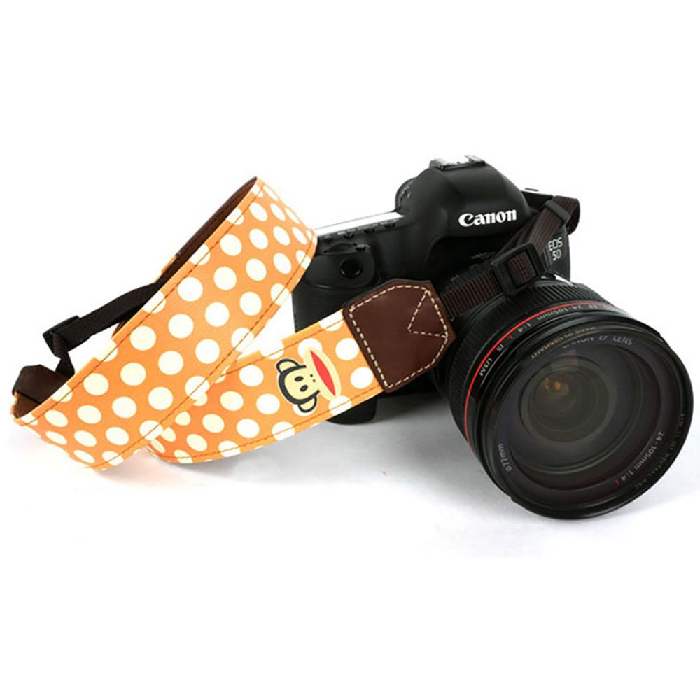paul frank/ポールフランク SLR/DSLRカメラ用 ドット柄 ネックストラップ 13PF-SN20 ORANGE オレンジ