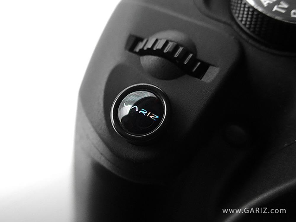 GARIZ ソフトレリーズボタン(貼付けタイプ) 10mm ブラック&レッドセット XA-SB1