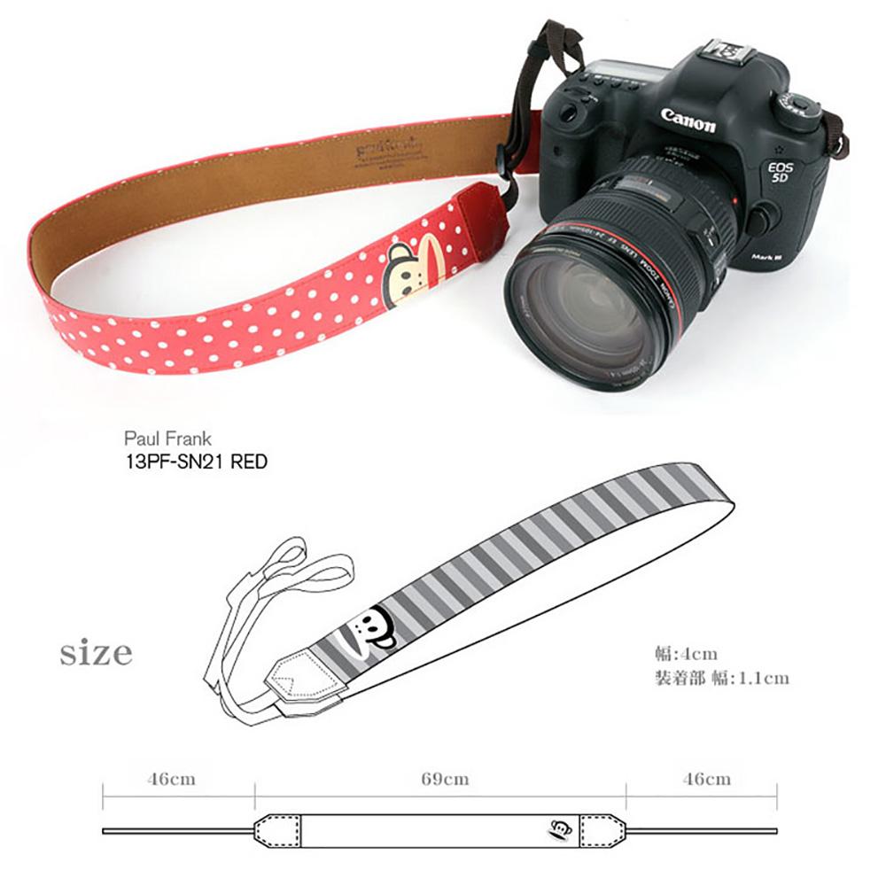 paul frank/ポールフランク SLR/DSLRカメラ用 ドット柄 ネックストラップ 13PF-SN21 RED レッド