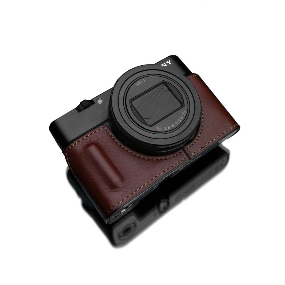 GARIZ SONY RX100 VII(DSC-RX100M7) 用 本革カメラケース HG-RX100M7BR ブラウン