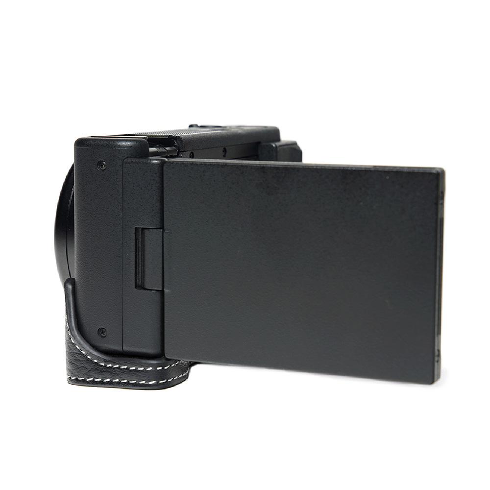 TP Original SONY VLOGCAM ZV-1 用 ボディーハーフケース ブラック