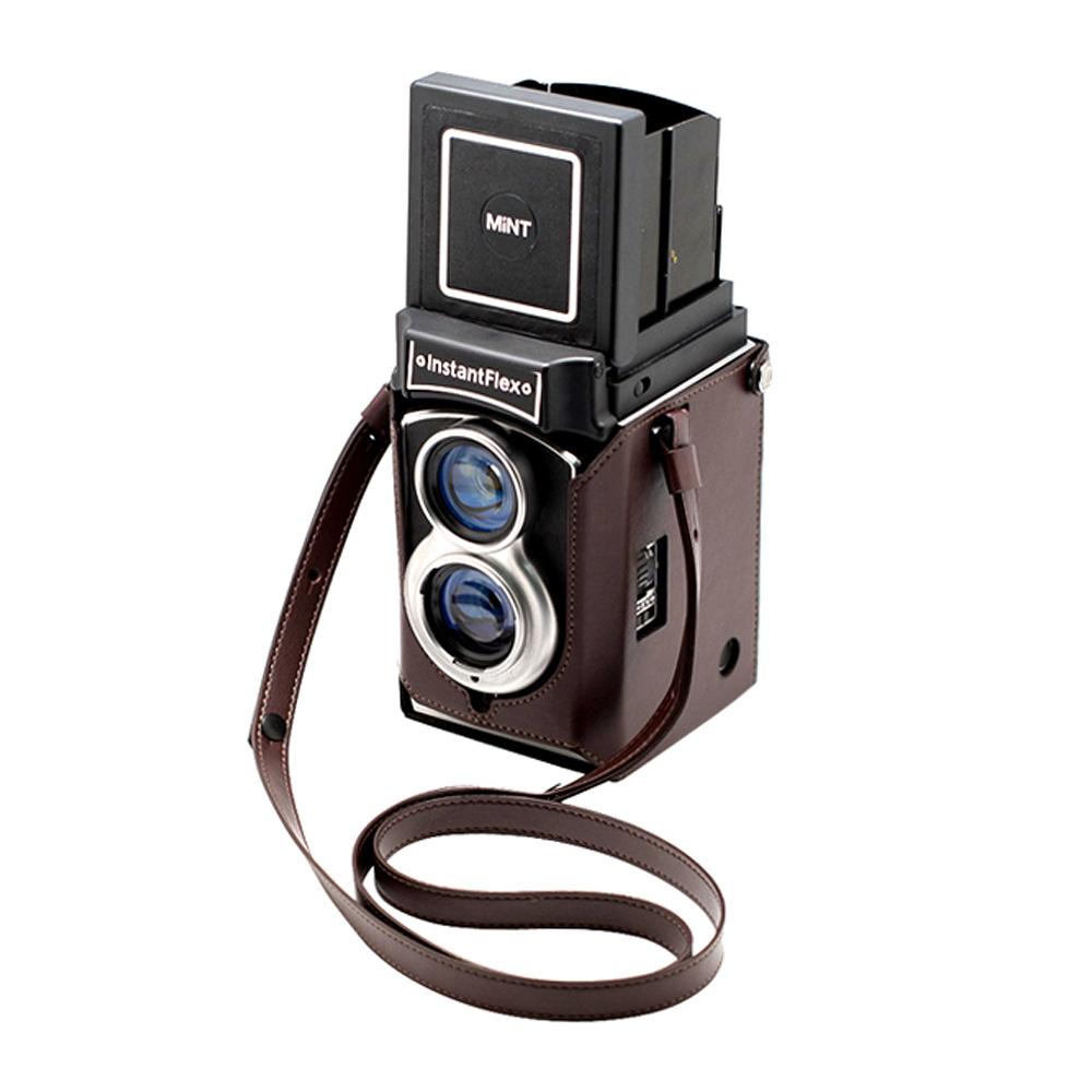 【期間限定】MiNT 二眼レフインスタントカメラ InstaxFlex TL70本体+レザーケース+チェキフィルム10枚セット