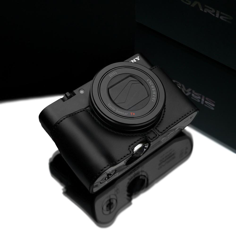 GARIZ SONY DSC-RX100 M5/M4/M3用 本革カメラケース XS-RX100BK ブラック