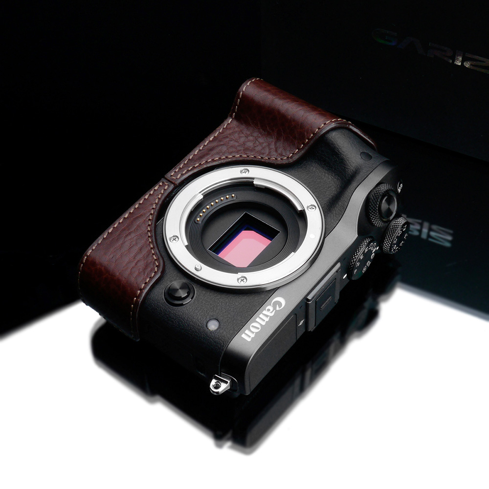 GARIZ Canon EOS M6用 本革カメラケース XS-CHEOSM6BR ブラウン