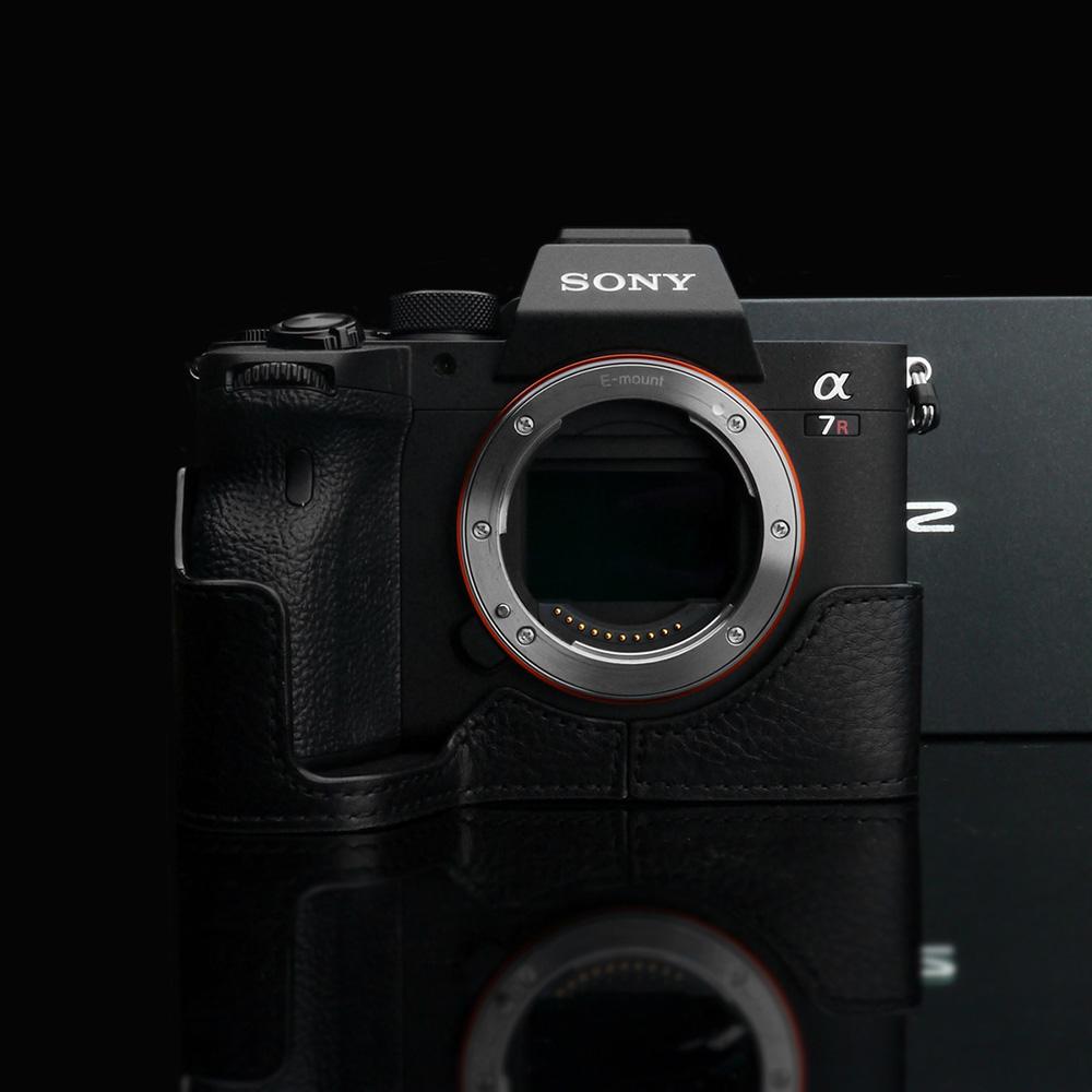 GARIZ SONY α7R IV 用 本革カメラケース XS-CHA7RM4BK ブラック