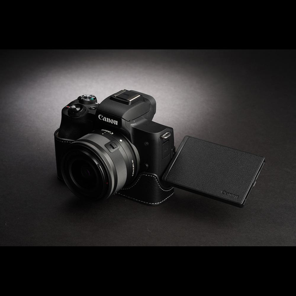 TP Original Canon EOS Kiss M 用 ボディーハーフケース ブラック