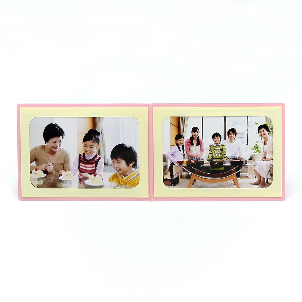 ポケット台紙 Anniversary/マーガレット L2面(ヨコ) ピンク メッセージカード付