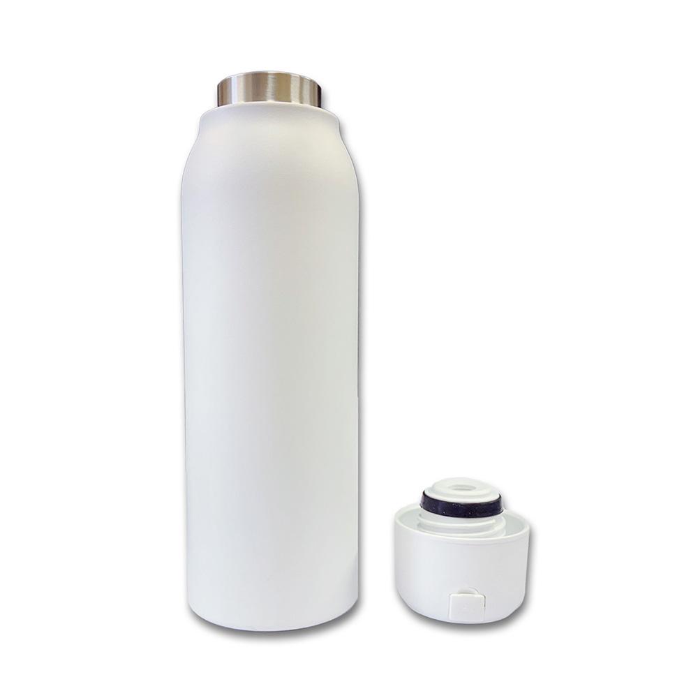 UVC-LED(深紫外線)チップ内蔵 殺菌機能付ボトル(水筒) ホワイト
